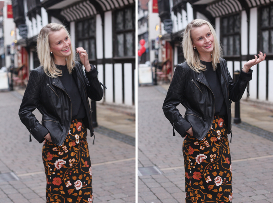 Fringe and Doll BMB floral Skirt double