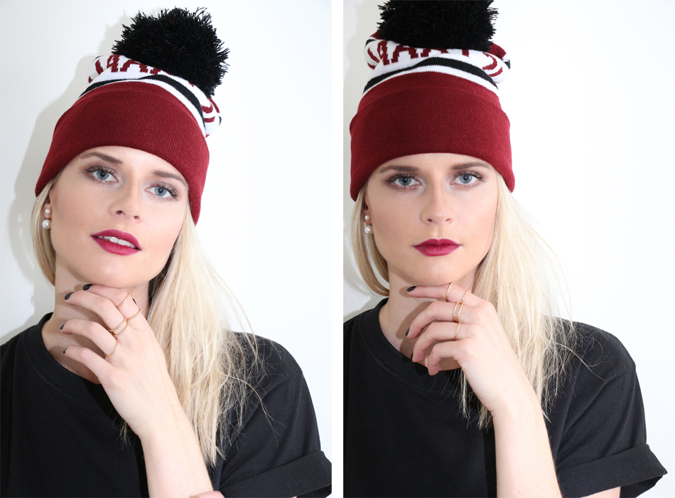 Fringe and Doll hat look double look