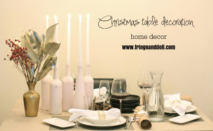 My Christmas table decoration and menu