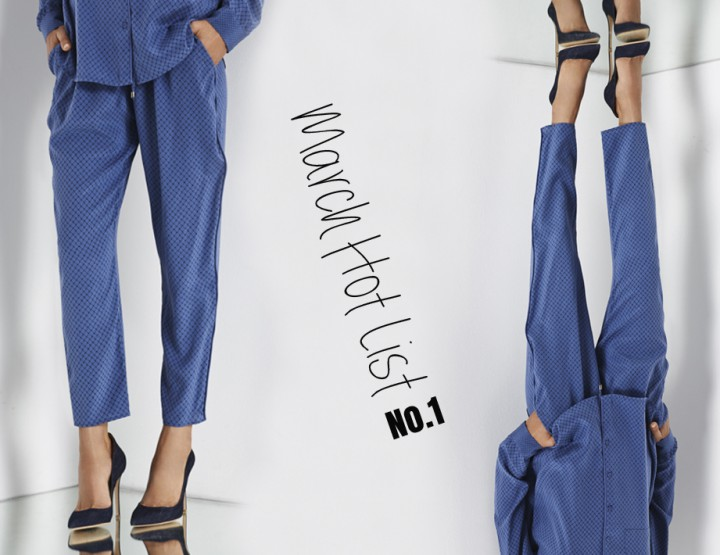 March Hot List No.1- Custommade Silk Trousers