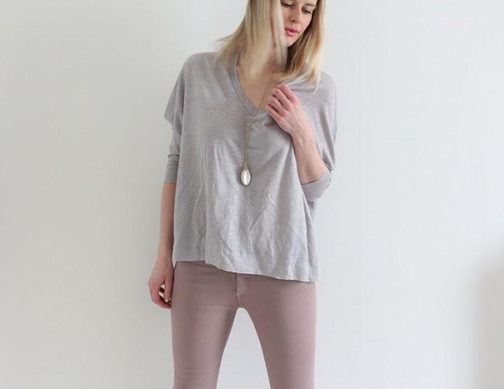 Vintage denim look sweat shirt