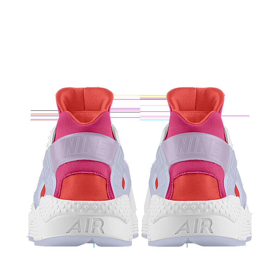 nike huarache sneakers pink customized
