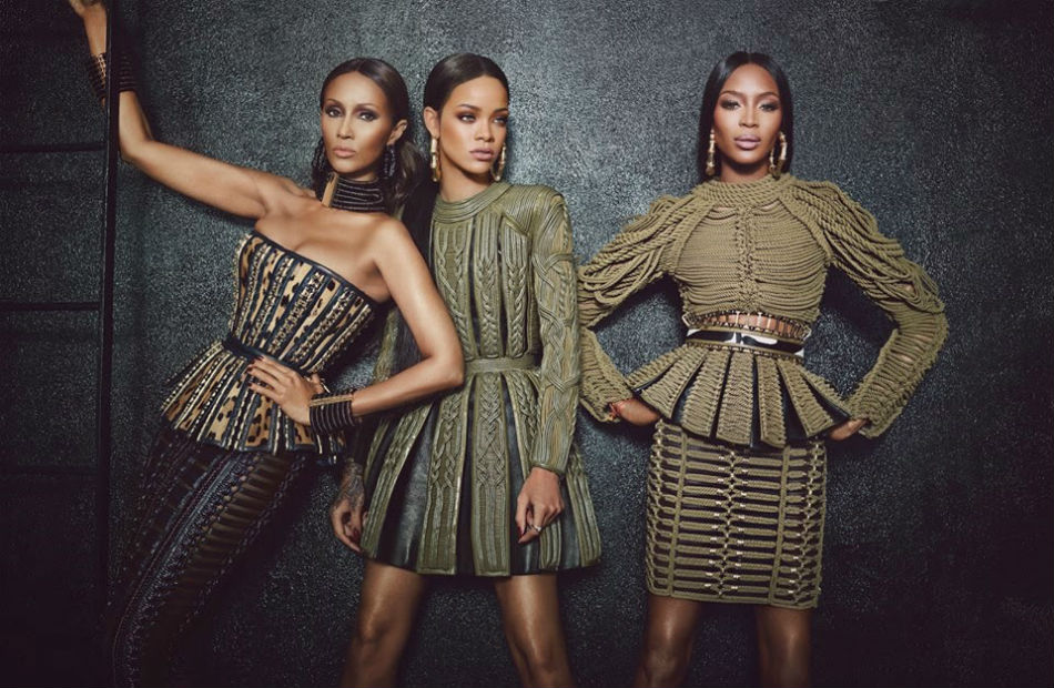 Fringe and Doll Balmain Rihanna 2 Campaign