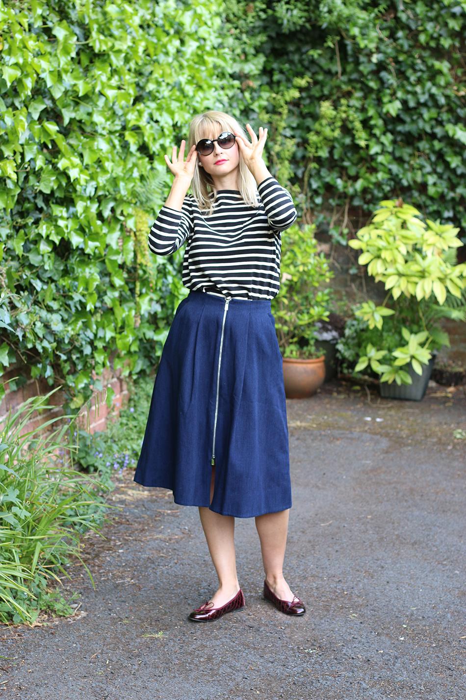 Fringe and Doll Denim skirt look IMG_6350