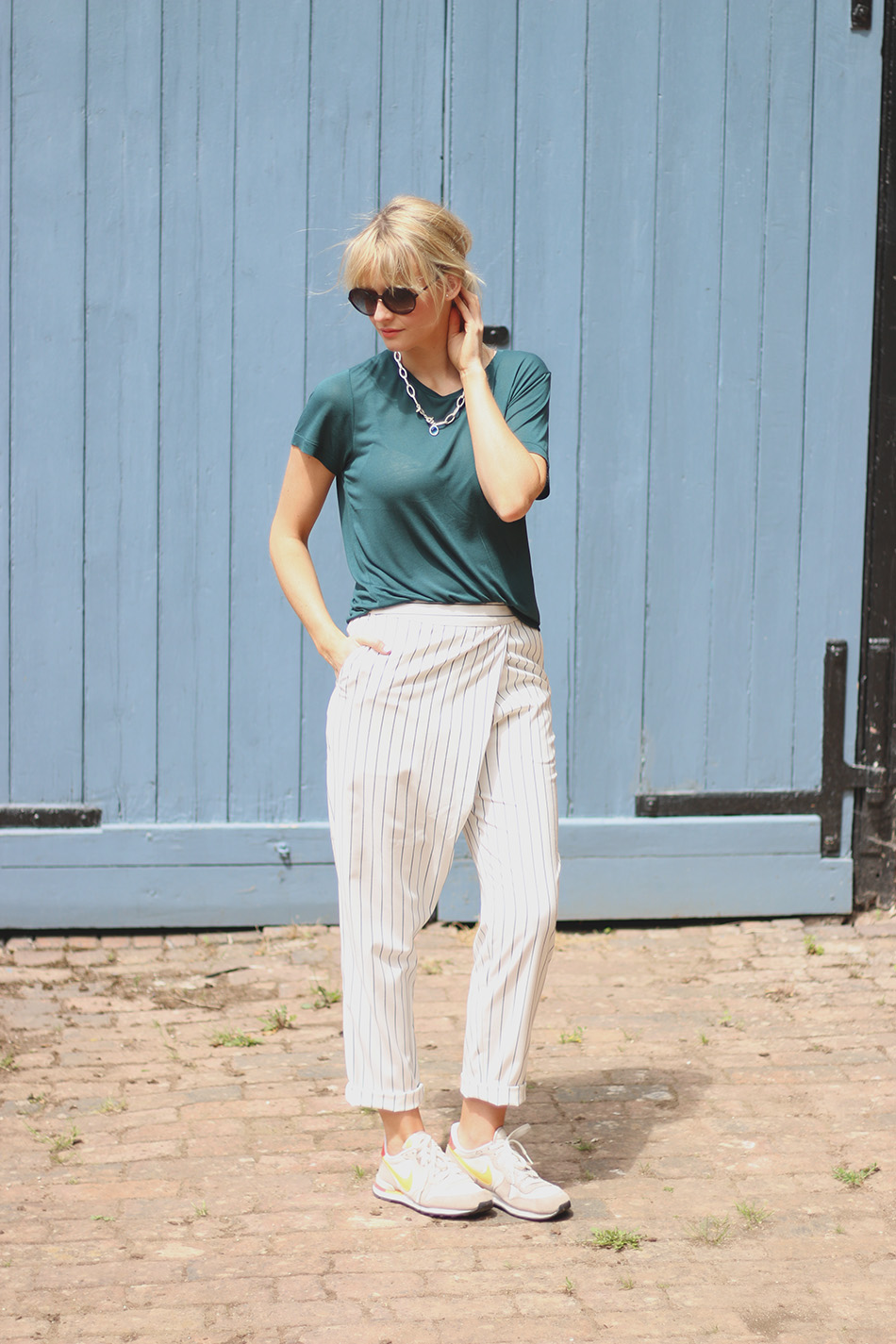Fringe and Doll Striped trousers IMG_6916
