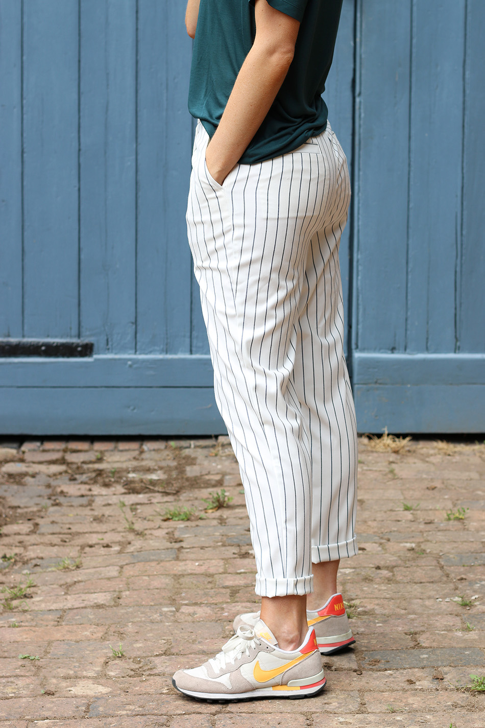 Fringe and Doll Striped trousers IMG_6996