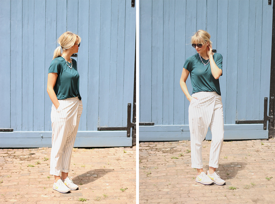 Fringe and Doll Striped trousers double