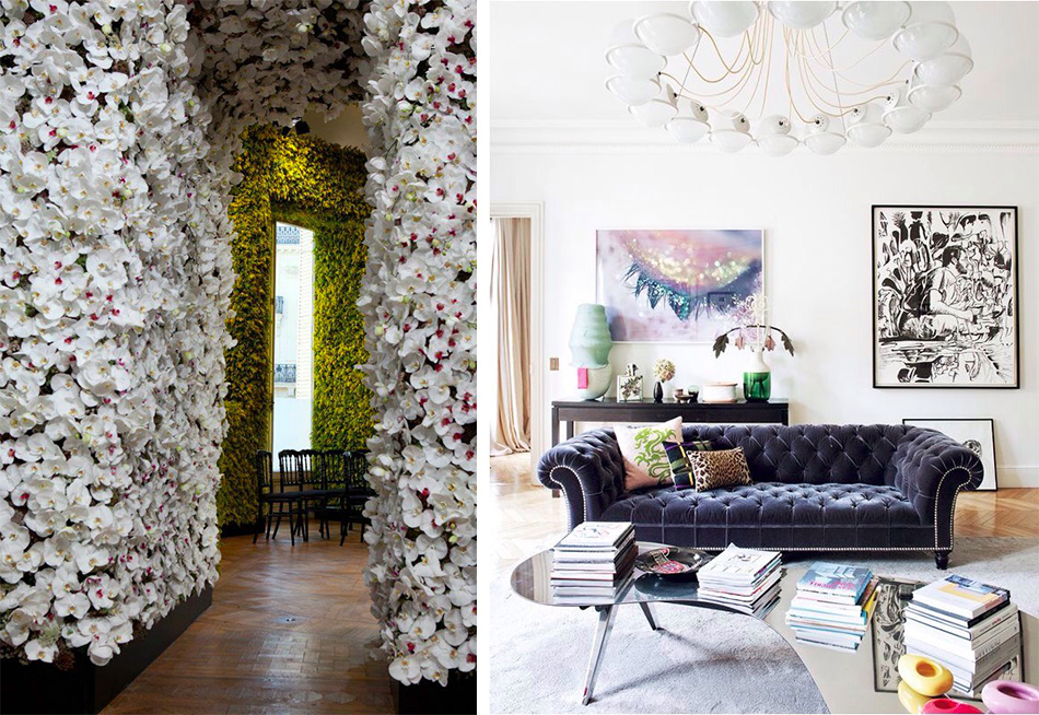 Fringe and Doll Parisian home flowers dior couture