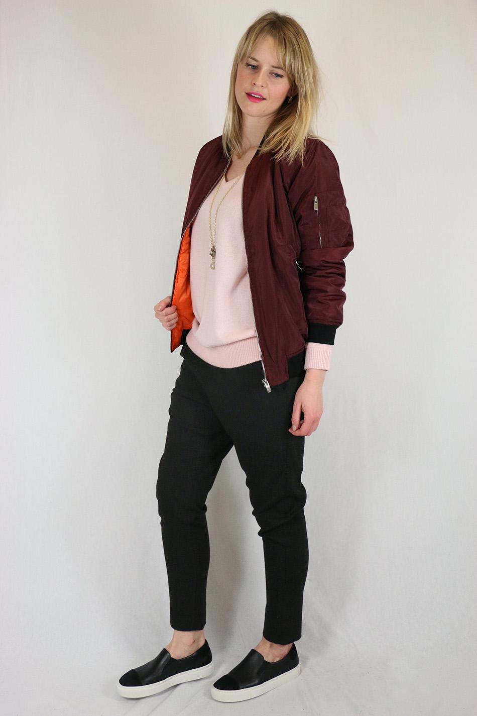 Fringe and Doll Burgundy Bomber jacketIMG_0643