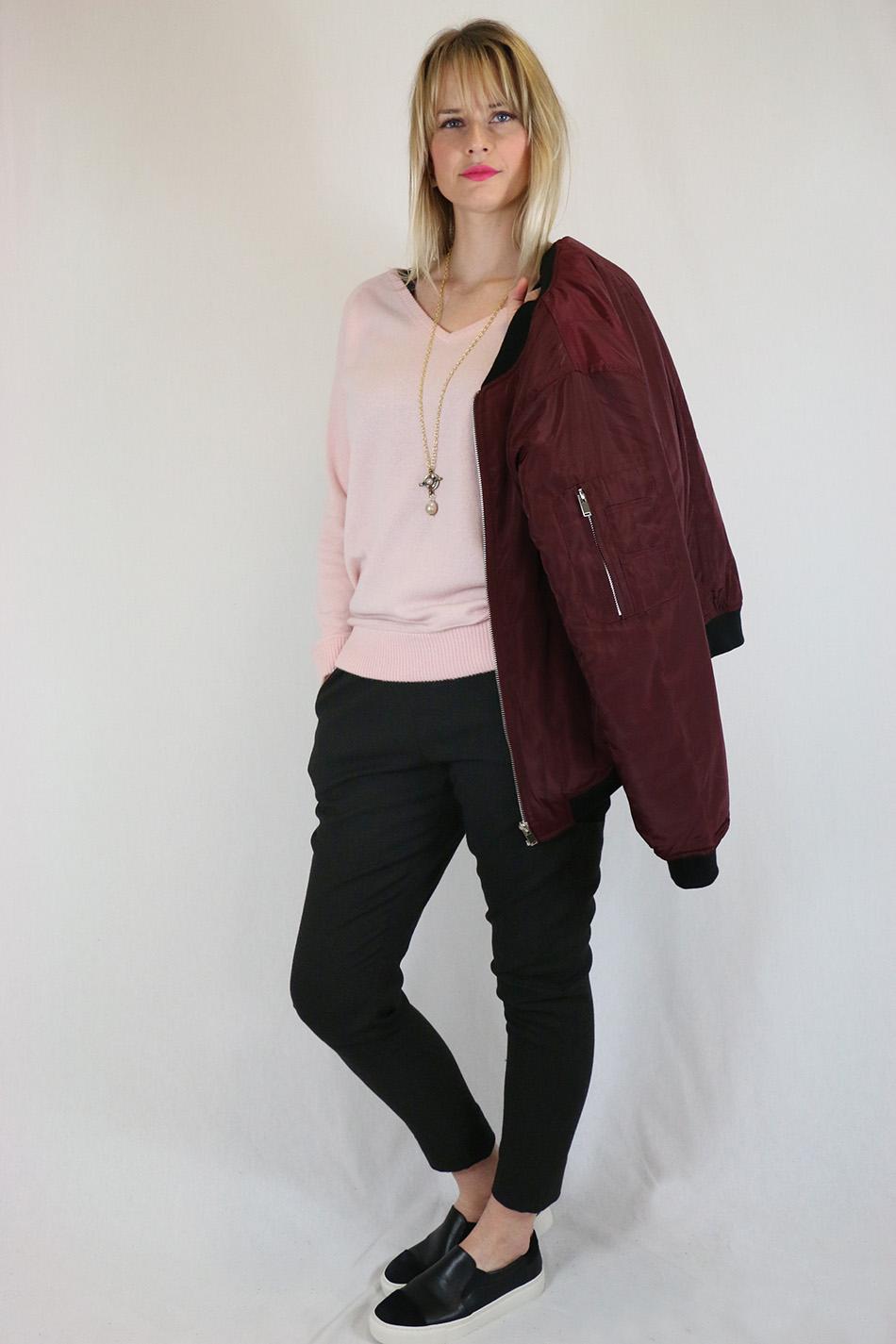 Fringe and Doll Burgundy Bomber jacketIMG_0667