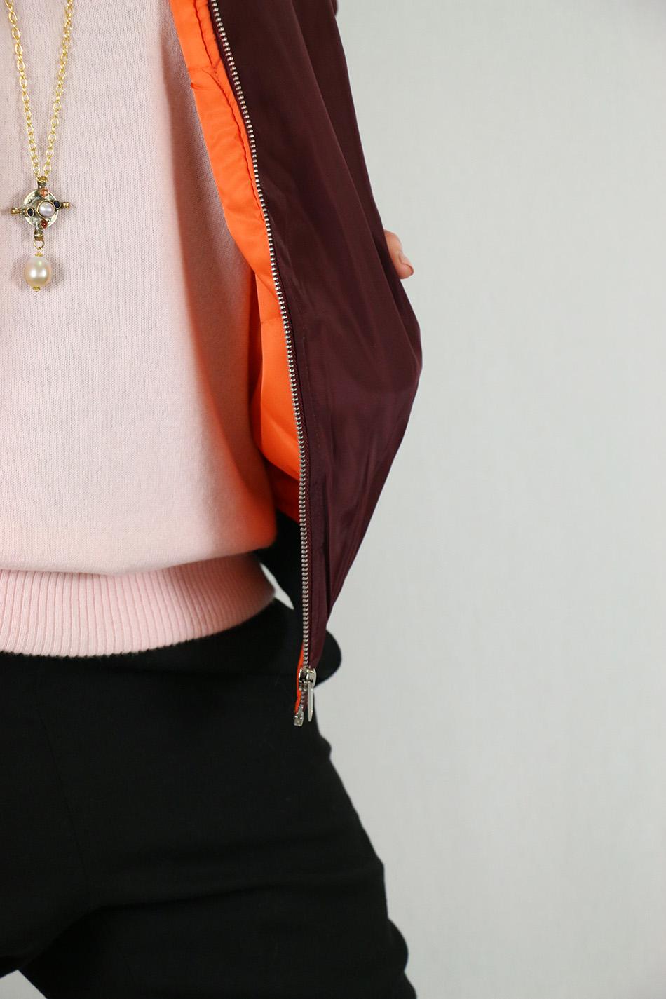 Fringe and Doll Burgundy Bomber jacketIMG_0737