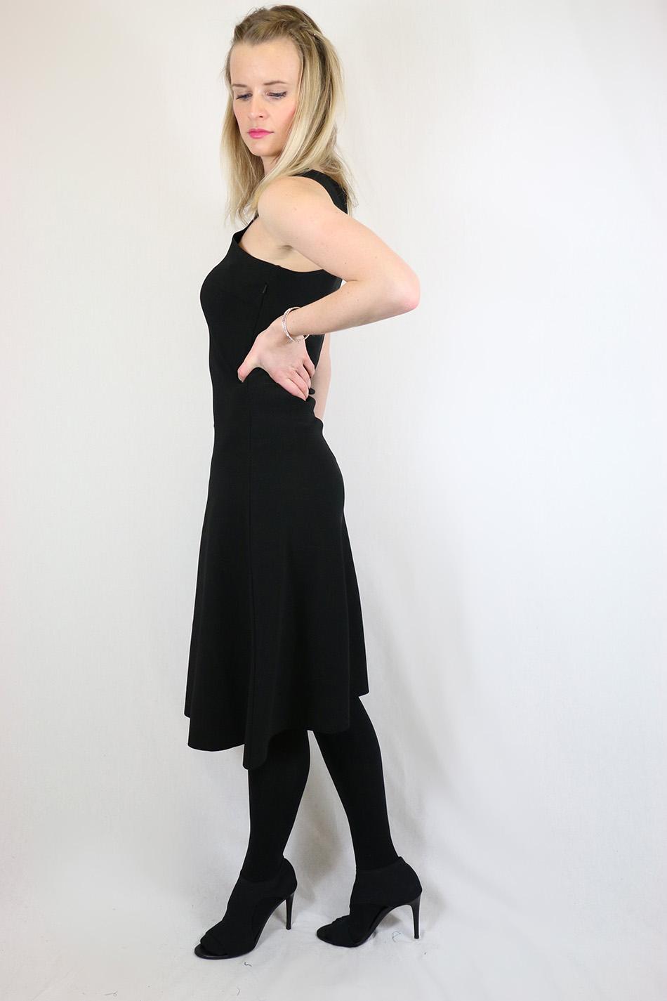 Fringe and Doll Black A-line dress IMG_1704
