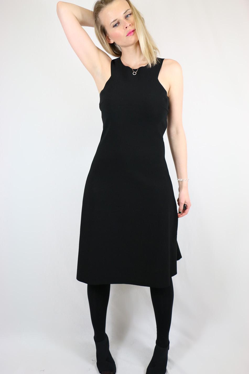 Fringe and Doll Black A-line dress IMG_1723