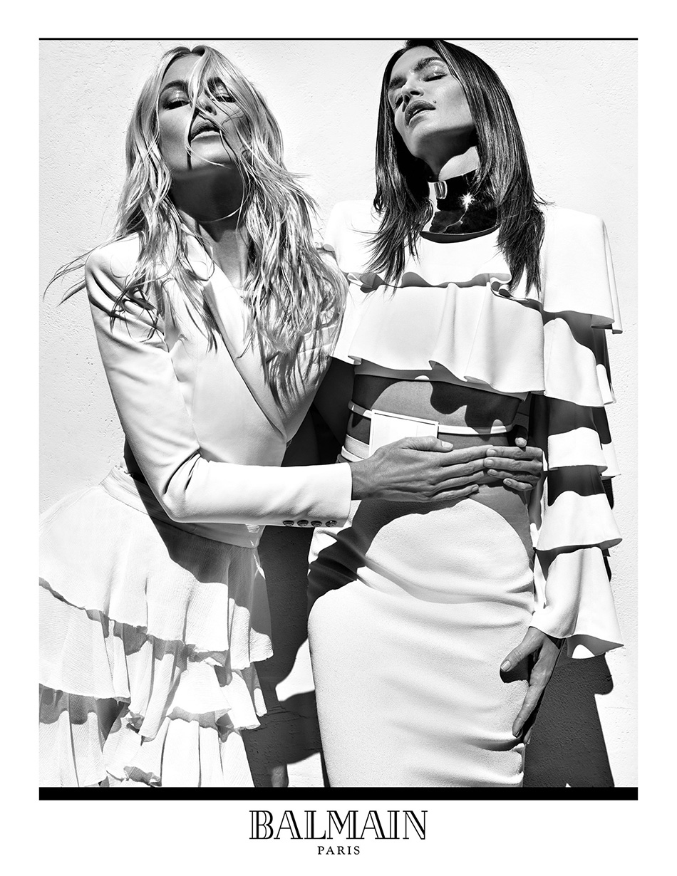 fringe and doll balmain SS16 campaign